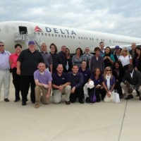 RCF winners board the Ravens team plane on their way to Kansas City