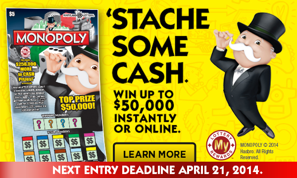 Win $50,000 instantly or enter online for more chances to win.